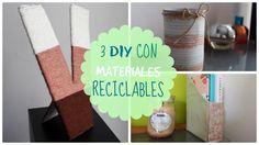 ✿ MANUALIDADES con materiales RECICLABLES | DIY para el DÍA DE LA TIERRA ✿