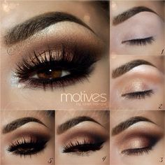 Smokey dark brown eyes makeup - Kardashian auroramakeup