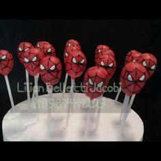 Cakepop Homem Aranha ou Spiderman