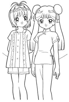 483 Best Anime & Manga Coloring Pages images | Coloring pages ...