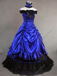 Southern Belle Civil War Ball Gown Prom Dress Reenactment Halloween Costume