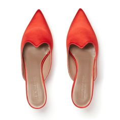 Le Monde Beryl's Red Satin Kitten Heel Mule with a pointy toe, cushioned calf leather insole and a cm kitten heel. Funky Shoes, Red Shoes, Snake Print Boots, Jumper Outfit, Wedding Hats, Red Satin, Calf Leather, Designer Shoes, Heeled Mules