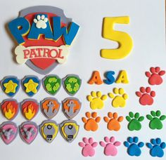 Fondant Paw Patrol cake and cupcake decorating by SweetCakeArts
