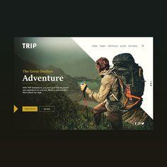 TRIP concept landing page #uidesign #uxdesign #landingpage #ui #ux #trip #explore #adventure #sketch #web #websitedesign #design #logo #travel #webdesigner #webdeveloper #appdesign #app #userinterface #graphicdesigner