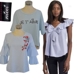 Exciting and chic new stock now at #Nicci stores & online nicci.co.za #NicciSS17 Ss 17, Chic, Blue, Tops, Women, Fashion, Shabby Chic, Moda, Elegant