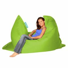 BAZAAR BAG ® - Giant Beanbag LIME GREEN - Indoor & Outdoor Bean Bag - MASSIVE 180x140cm - GREAT for Garden: Amazon.co.uk: Kitchen & Home