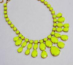 Neon Rhinestone Necklace