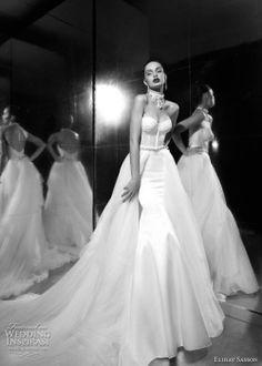 Magnificient Elihav Sasson silky wedding dress.