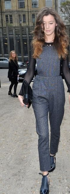 "Eleanor Calder wearing Topshop ""Amber"" jumpsuit"
