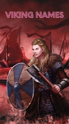 Some of the most popular men's and women's viking names from the Viking Age. Many of these names have their roots in the names of Norse gods and goddesses and some even have come back into fashion in recent years as popular baby names in Norway and Scandinavia. Scandinavian Baby Names, History Of Norway, Viking Names, Norwegian People, Norwegian Vikings, Popular Baby Names, Old Norse, Norse Mythology, Gods And Goddesses