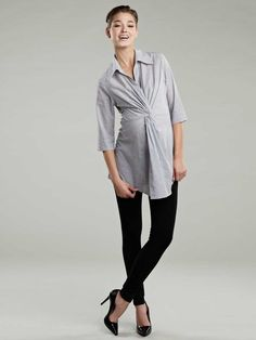 Maternal America Twisted Front Tunic