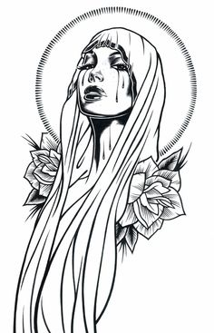 Black and White Illustrations by Adam Isaac Jackson Illustrations en noir et blanc par Adam Isaac Ja Tattoo Sketches, Tattoo Drawings, Body Art Tattoos, Drawing Sketches, Art Drawings, Tattoo Ink, Sleeve Tattoos, Chicano Art Tattoos, Arm Tattoo