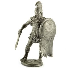 Greek Hoplite 450 BC Tin Toy Soldiers 54mm Miniature Figurine Metal Sculpture | eBay