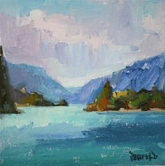 """Daily+Paintworks+-+""""The+Columbia+Gorge""""+-+Original+Fine+Art+for+Sale+-+©+Cathleen+Rehfeld"""