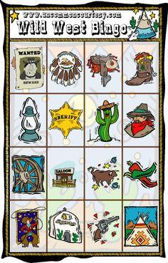 Wild West Bingo now downloadable for $1.99! Wild West Activities, Wild West Games, Wild West Theme, Wild West Party, Wild Wild West, Cowboy Theme, Cowgirl Party, Western Theme, Cowboy And Cowgirl
