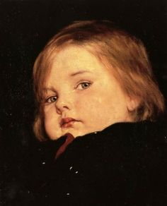 Gyzis Nikolaos (Greek, 1842 - : Portrait of a Child Potrait Painting, Greece Painting, Blood Art, Greek Art, Chiaroscuro, New Artists, Find Art, Original Paintings, Face