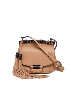 Nouveau+Small+Leather+Crossbody+Bag,+Camel+by+Gucci+at+Neiman+Marcus.