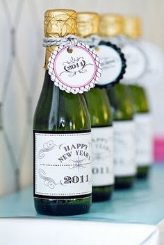 small champagne bottles tags - Google Search