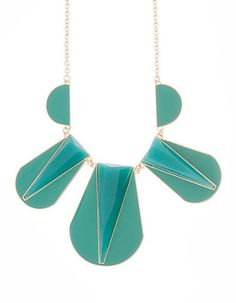 Modeets :: Turquoise Geometric Necklace // $29.00