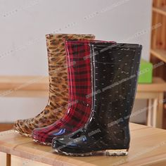 New 2013 Japanese Kors water shoes ladies fashion boots knee high transparent bottom rain boots women $25.98