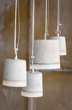 concrete and silicone pendant lights by Heal's