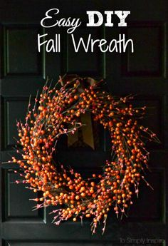 Take 20 minutes to craft this simple fall wreath and expect compliments all season long.