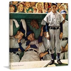 Norman Rockwell The Dugout X Canvas Wall Art Multi Norman Rockwell Prints, Norman Rockwell Paintings, Canvas Art Prints, Painting Prints, Canvas Wall Art, The Saturdays, America's Favorite Pastime, Ad Art, American Artists