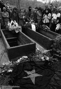 Burial of RAF Members Andreas Baader, Gudrun Ensslin, and Jan-Carl Raspe, 1977.