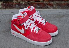 """Nike Air Force 1 Mid """"Fusion Red"""" (Blazer Pack)"""
