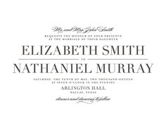 """Classic"" - Classical, Simple Letterpress Wedding Invitations in Black by Lauren Chism."