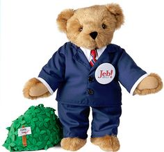 Jeb Bear presidential candidate bear from Vermont Teddy Bear company - Jeb Bush