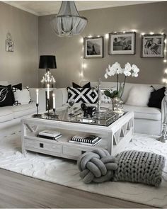 Here are 28 cozy living room decor ideas and everything you need to recreate these cozy living room vibes in your apartment. Here are 28 cozy living room decor ideas and everything you need to recreate these cozy living room vibes in your apartment. Living Room Decor Cozy, Living Room Grey, Home Living Room, Interior Design Living Room, Living Room Designs, Modern Interior, Living Room Themes, White Living Room Furniture, Interior Colors