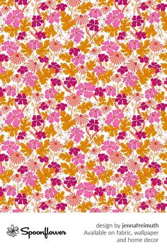 Customize your own home decor, #wallpaper and #fabric at Spoonflower. Shop your favorite indie designs on #fabric, #wallpaper and home decor products on Spoonflower, all printed with #eco-friendly inks and handmade in the United States. #patterndesign #textildesign #pattern #digitalprinting #homedecor #floral #magenta #summer Fabric Wallpaper, Floral Designs, Own Home, All Print, Watercolor Flowers, Custom Fabric, Spoonflower, Magenta, Diy Wedding