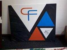 #CallCenter #auftragsarbeit #Logo #Dreieck #Communikation Factory GmbH #Jubiläum #15 Jahre Symbols, Letters, Logo, Art, 15 Years, Triangles, Kunst, Art Background, Logos