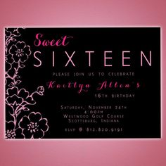 DIY Digital File Sweet Sixteen Party by 1111PixelProductions, $15.00