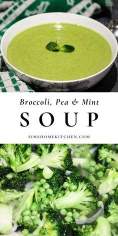 Mint Recipes, Pea Recipes, Soup Recipes, Recipies, Delicious Vegan Recipes, Real Food Recipes, Healthy Recipes, Easy Vegetarian Dinner, Vegan Vegetarian