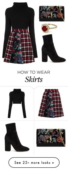 """Plaid for autumn"" by tania-alves on Polyvore featuring Valentino, MSGM and Yves Saint Laurent"