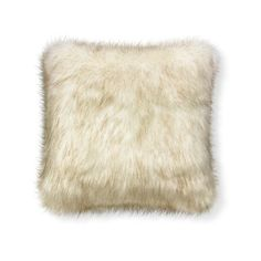 Williams-Sonoma Faux Fur Pillow Cover (370 SAR) ❤ liked on Polyvore featuring home, home decor, throw pillows, cream throw pillows, inspirational throw pillows, faux fur throw pillows, textured throw pillows and inspirational home decor