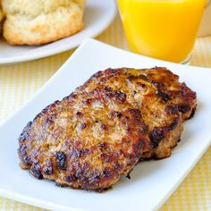 Easy Homemade Breakfast Sausage - delicious, perfectly seasoned breakfast sausage patties with very little salt and no preservatives. Freezes easily too!