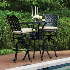 Provance Cast Aluminum Bar Height Patio Furniture By Summer Classics