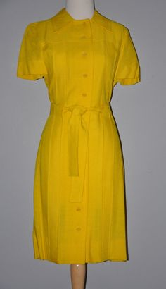 60s Yellow Chuck Howard Dress by InstantVintage78 on Etsy, $75.00