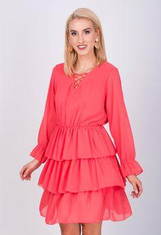 Vzdušné krátke volánové šaty - ROUZIT.SK Bell Sleeves, Bell Sleeve Top, Dresses With Sleeves, Blouse, Long Sleeve, Tops, Women, Fashion, Moda