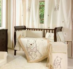 4 Piece Unisex Winnie The Pooh Baby Crib Bedding Cot Set Rrp $250.00