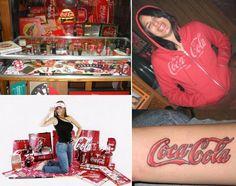 (Coke code 124) 7살때 부터 코카-콜라 수집하기 시작한 Krystal Gaubert~수집품 중 가장 좋아하는 것을 고르기가 제일 어렵다는 그녀의 팔에 그려진 코카-콜라 타투가 눈에 띄네요^^