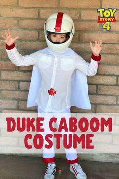 This DIY Duke Caboom costume For Kids or adults gives Forky a run for his money as the best Toy Story 4 Costume this year.  DIY Halloween Costumes For Kids | Toy Story Halloween Costumes | Toy Story Family Costumes | Toy Story 4 Costumes | Family Halloween Costumes
