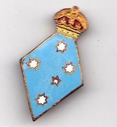 Australia- Old Girl Guide Leaders Enamel Badge Nice Pin Intact | eBay  #crown #southerncross #stars