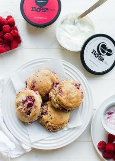 Coconut Raspberry Scones | www.kitchenconfidante.com