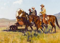 #horses #art JIM NORTON Coming In For Chuck Oil on Board 13″ x 18″