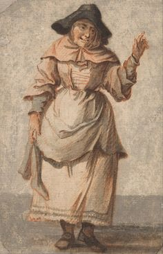 c. 1759 - Paul Sandby - An Old Market Woman Grinning and Gesturing with her Left Hand