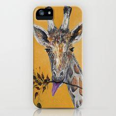Giraffe in Orange iPhone & iPod Case by RokinRonda - $35.00